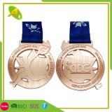 Wholesale Supplier Fashion Logo Promotion Gift Price Metal Crafts Custom Designs High Quality Zinc Alloy Casting Gold Marathon Running Race Sport Award Medal