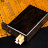 Crafts Wooden Carved Cigarette Packs 20 Pieces Whole Material Emptied Solid Wood Ultra - Thin Men Appliances Carved Retro Mahogany