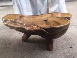 Natural Overall Root Carving Wenge Gendiaochazhou Wooden Craft Coffee Table