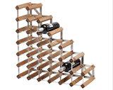 Household 27 Bottles Ladder Vanished Pine Wine Racks Wholesale