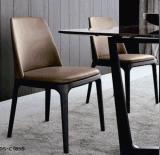 High Quality Elegant Fabric Leather Wood Hotel Restaurant Chair