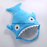 Baby Blanket Baby Soft Blue Swaddle Blanket Extra Thick for Comfort Keep Baby Cozy & Warm Baby Shark Shape Design Blanket