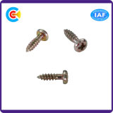 Stainless Steel/4.8/8.8/10.9 Galvanized Philips Pan Screw for Building Bridgerailway Machine