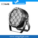 LED PAR Light 12 PCS Stage Light RGB LED Flat PAR Light Wholesale