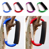 D Shape Aluminum Carabiner with Soft Form Grip