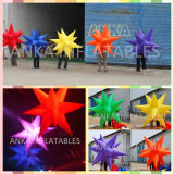 Guangdong Manufacturer LED Lighting Hanging Inflatable Star for Wedding Decoration