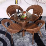 Outdoor PE Rattan / Wicker Square Coffee Shop Tables and Chairs (Z344)