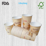 20oz Disposable Single Wall Paper Cup for Hot/Cold Drink