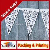 White Paper Heart Lace Triangle Banner Pennant Valentine (420036)