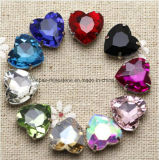 Heart 12mm Sew on Crystal with Claw Setting Beads for Wedding Dress Shoes (SW-heart 12mm)