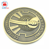 Factory Supply Wholesale Custom Antique Gold Plated Lodge Logo School Anniversary Pakistan Old Collectible Coins with Plastic Gift Boxes