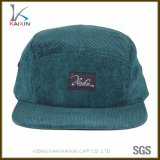 Custom Flat Brim Plain Corduroy 5 Panel Hat