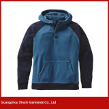 Guangzhou Factory Wholesale Blank Cheap Polyester Fleece Pullover Jacket Hoody (T87)