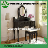 Wood Dressing Table with Mirror and Stool (W-HY-006)