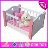 2015 Eco-Friendly Wooden Bed Dog, Dog Product Bed Crib, Fashion Modern for Cute Cats Wholesale Comfortable Pet Bed Dog W06f006A