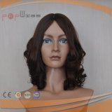 Brown Color Wavy Silk Top Wig (PPG-l-0473)