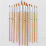 Art Painting Brushes Acrylic Oil Watercolor Artist Paint Brush Wooden Handle