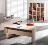 Wood Executive Table / Wood Manager Table / Wood Executive Desk with Filing Cabinet