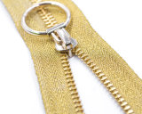 Metal Zipper with Design Puller/Colored Tape