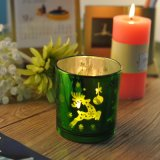 Plating Votive Candle Holder with Christms Pattern