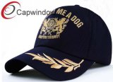 Golden Yellow Leaves Embroidery Breathablel Sport Racing Baseball Cap