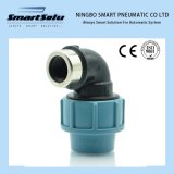 Plastic Compression Fitting 90 Degree Elbow