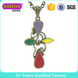 Colorful and Beautiful Enamel Necklace with Retro-Style