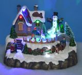 8′′ Musical, Moving & Light-up Christmas Village Scene Christmas Decoration