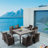 Composited Wooden Outdoor Furniture Garden Table Set with Chair by 8-10PCS (YTA020-1&YTD533-2)