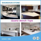 Artificial White Sparkle Quartz Stone Countertop for Kitchen