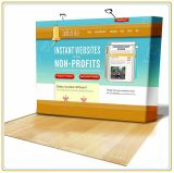 Hook & Loop Pop up Display Stands Banner Stands (12FT Curved)