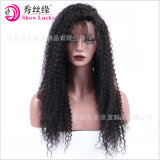 Top Quality Unprocessed Hair Wholesale Price Kinky Curly Brazilian Human Hair Full/Front Lace Wig for Women