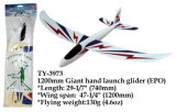 Funny 1200mm Giant Hand Launch Glider Epo Toy