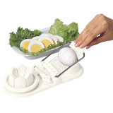Multifunction Fancy Pieces Splitting Stainless Steel Plastic Eggs Fruit Slicer Kitchen Gadgets