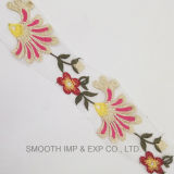3D Fashion Trims Multicolor Flower Crochet Embroidery Guipure Lace Fabric