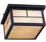 Modern Square Ceiling Lamp with Tiffany Glass