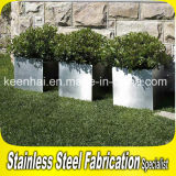 Outdoor Stainless Steel Flower Pot Square Flower Pot Stand