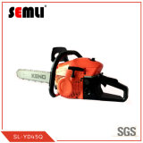 2-Stroke Garden Gasoline Chain Saw with Rubber Handle