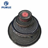 Colour Stitch Cotton Buffing Polishing Wheel with Plastic Washer for Metal