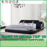 European Style Home Furniture Bedroom Leather Bed