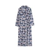Adults Unisex Winter Printed Coral Fleece Nightgown