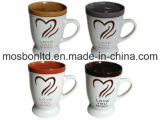 Hour Love You More 16 Oz Ceramic Mug Set with Lids