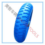 3.25-8 Blue PU Foam Bicycle Tire with PP Rim
