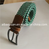 Alloy Bent Buckle and Pin Braided Elastic Belt