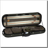 High Quality Deluxe Foamed Oblong Shaped Violin Light Case (CSV069)