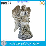 Natural Blessing Angel Girl Ceramic Garden Sculpture