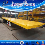 3 Axles Flatbed Trailer, 40FT Container Semi Trailer for Sale