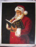 Handmade Santa Claus Canvas Oil Paintings as Christmas Gift