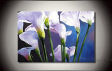 Modern Flower Oil Painting on Canvas for Decor (FL1-078)