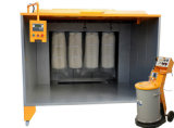 Manual Powder Coating Equipment for Wheel, Fire Extinguisher, Bicycle Frame Surface Painting (powder spray booth)